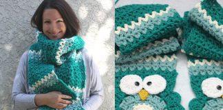 Crochet Owl Super Scarf Free Pattern