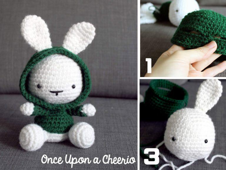 Cute Bunny in the Hood Crochet Free Pattern