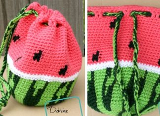 Crochet Watermelon Bag Free Pattern
