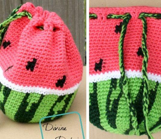 Crochet Watermelon Bag Free Pattern