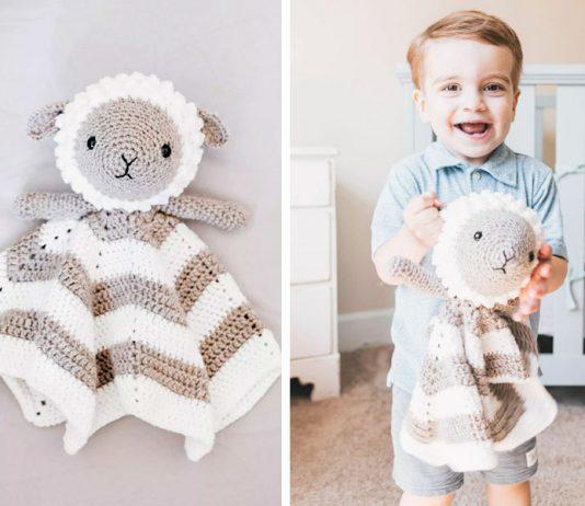 Crochet Little Lamb Lovey Free Pattern