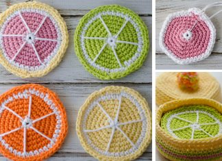 Crochet Citrus Fruits Coasters Free Pattern