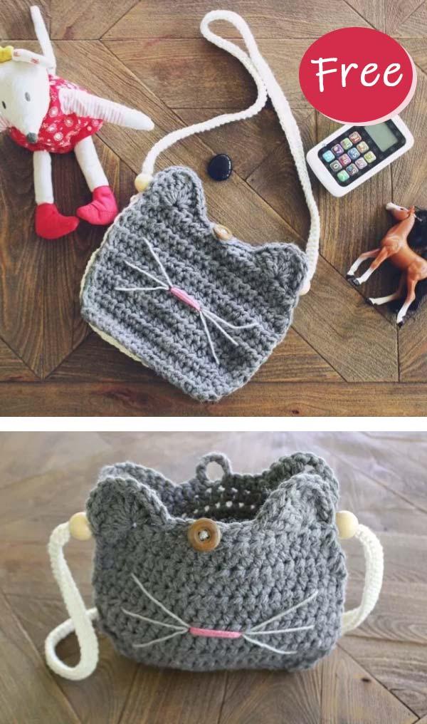 Crochet Cat Purse free pattern
