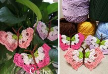 Easy Butterfly Free Crochet Pattern and Video Tutorial