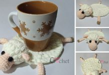 Crochet Amelia The Sheep Coaster Free Pattern
