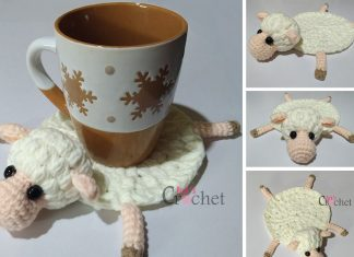 Crochet Amelia The Sheep Coaster Free Pattern