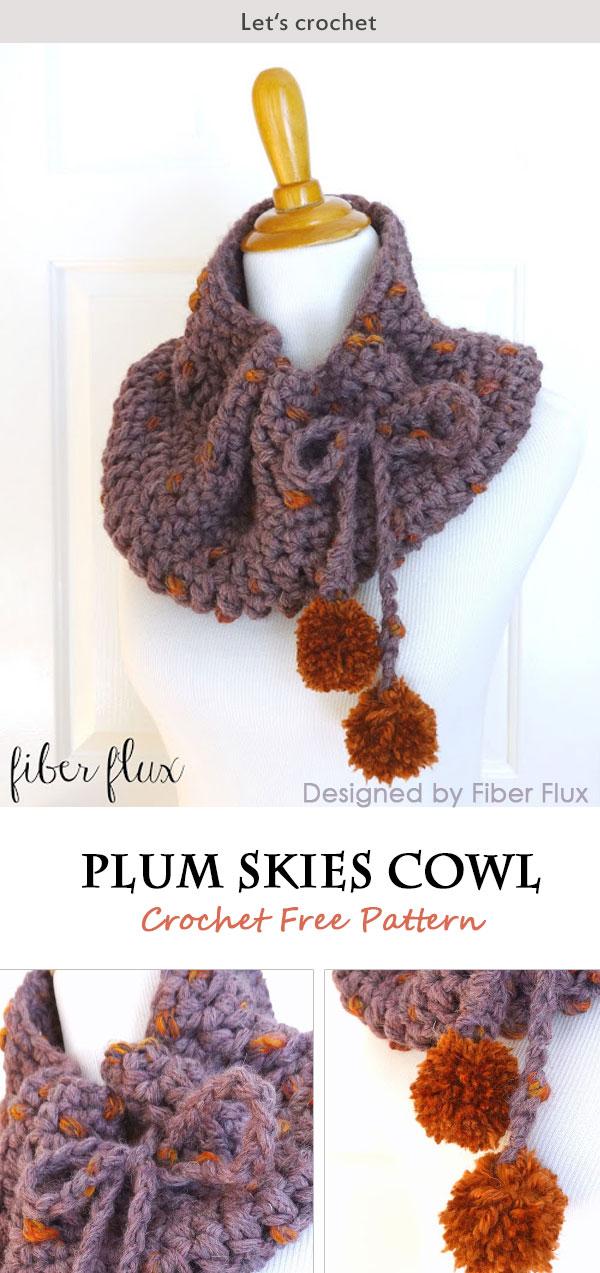 Plum Skies Cowl Free Crochet Pattern