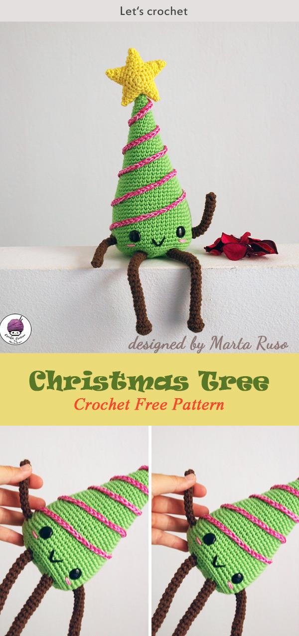 Crochet Christmas Tree Kawaii Amigurumi FREE PATTERN
