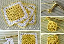 Granny Square Dishcloth Crochet Free Pattern