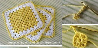 Granny Square Dishcloth Crochet Free Pattern