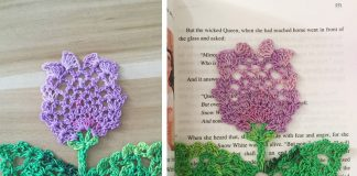 Crochet Flower Bookmark Free Diagram