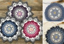 Winter Mandala Crochet Free Pattern
