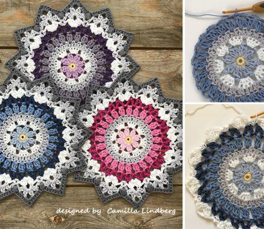 Winter Mandala Crochet Free Pattern