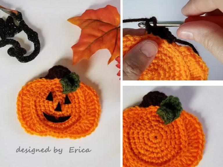 Crochet Jack Of Lantern Applique Free Pattern