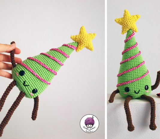 Crochet Christmas Tree Kawaii Amigurumi FREE PATTERN