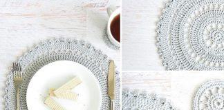 Crochet Table Placemat Set Crochet Free Pattern