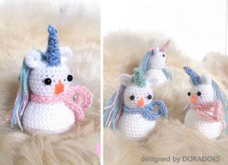 Crochet Snowicorn Free Pattern