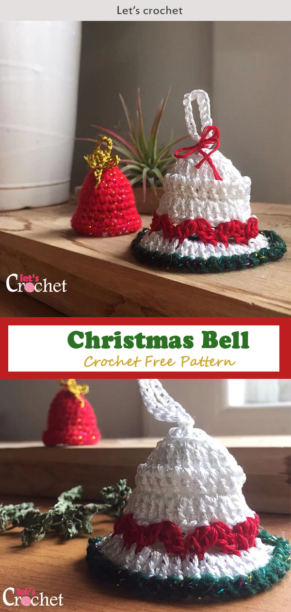 Crochet Christmas Bell Free Diagram