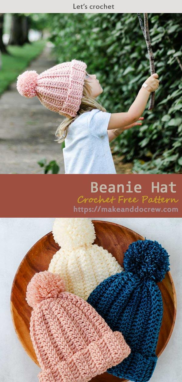 Beanie Hat Crochet Free Pattern