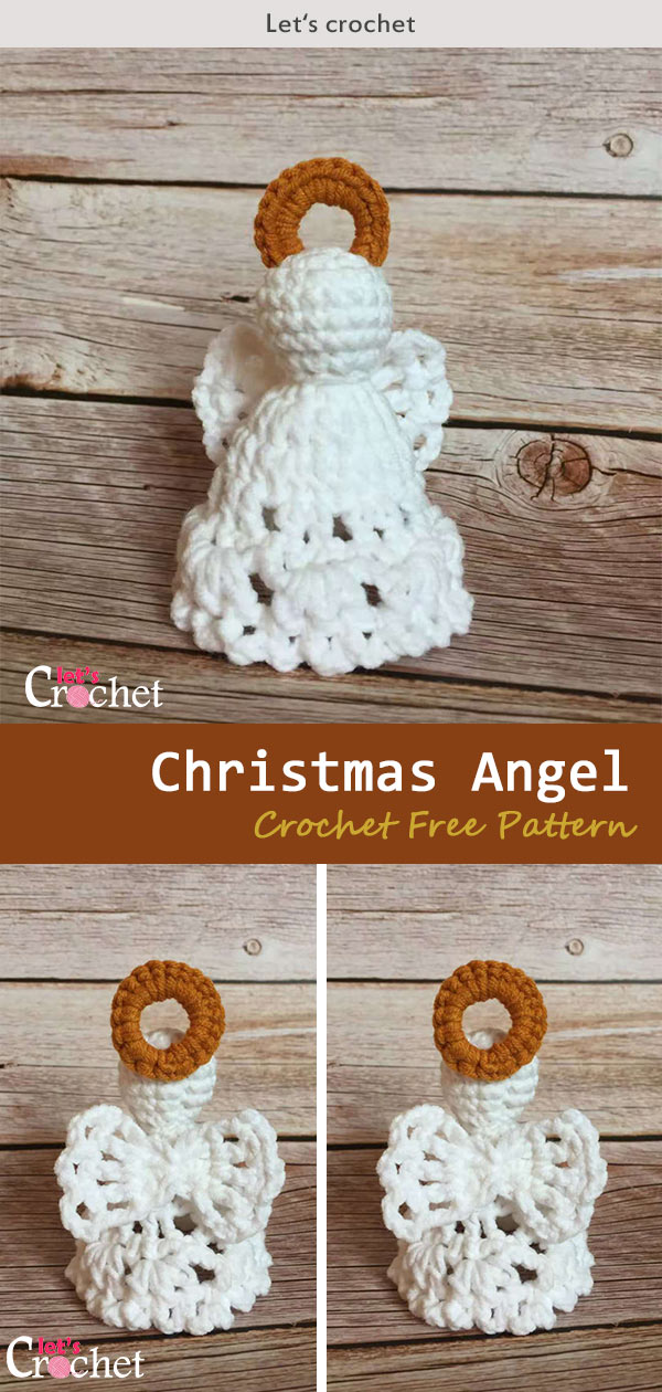 Crochet Christmas Angel Free Diagram