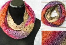Eventide Infinity Scarf Crochet Free Pattern