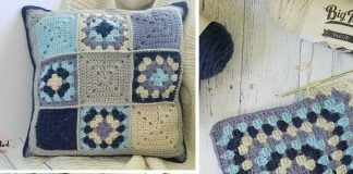 Lakeside Pillow Crochet Free Pattern