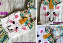 Unicorn Tote Bag Crochet Free Pattern