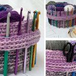 Useful Yarn Basket Crochet Free Pattern