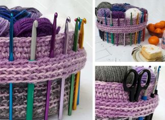 Useful Yarn Basket Crochet Free Pattern