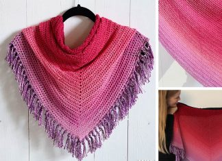 All The Way Shawl Crochet Free Pattern