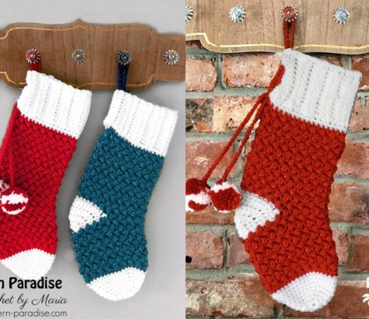 Christmas Stocking Crochet Free Pattern