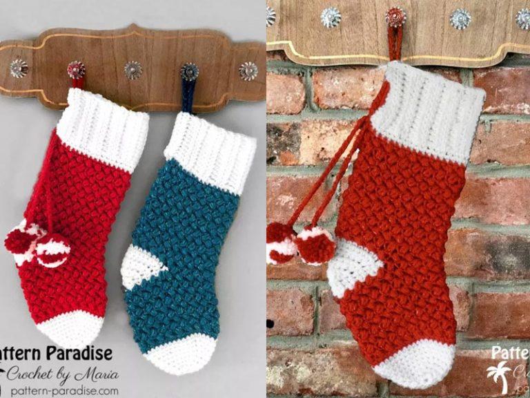 Christmas Stocking Crochet Free Pattern