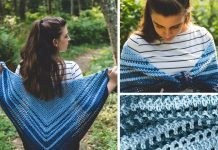Blue Jolene Shawl Crochet Free Pattern