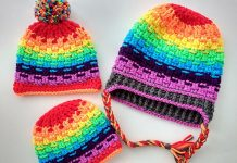 Rainbow Hat Crochet Free Pattern
