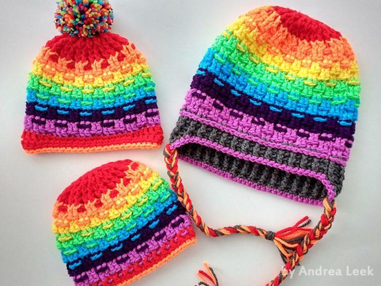 Rainbow Hat Crochet Free Pattern