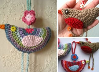 Birdie Decorations Crochet Free Pattern