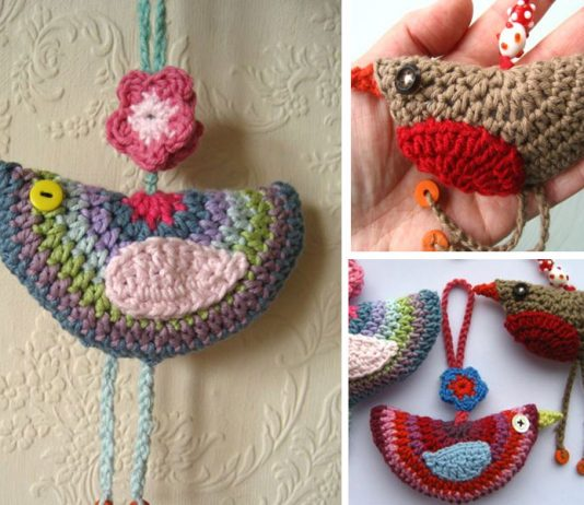 Birdie Decorations Crochet Free Pattern