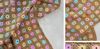 Color Flower Blanket Camo Girl Crochet Free Pattern