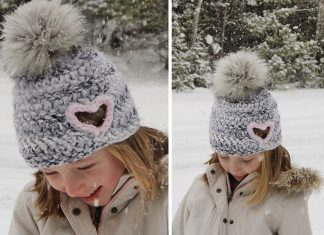 Hailey Heart Cut Out Hat Crochet Free Pattern