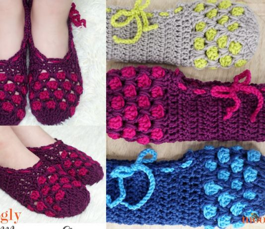 Chic Moroccan Slippers Crochet Free Pattern