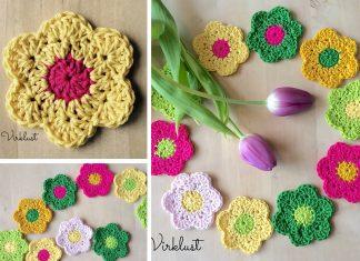 Spring Flowers Crochet Free Pattern