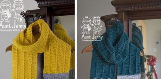 The Sharpened Pencil Scarf Crochet Free Pattern