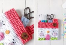 Easy House Pouch Crochet Free Pattern