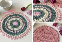 Winter Rose Mandala Crochet Free Pattern