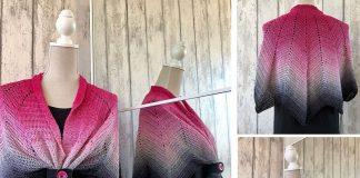 Moon-star shawl Crochet Free Pattern