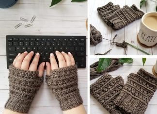 All My Exes Fingerless Mittens Crochet Free Pattern