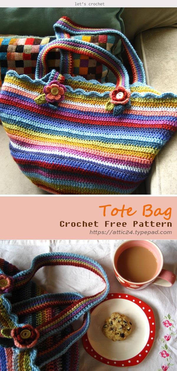 Tote Bag Crochet Free Pattern