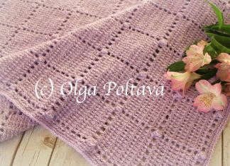 Blocks And Popcorns Baby Blanket Crochet Free Pattern