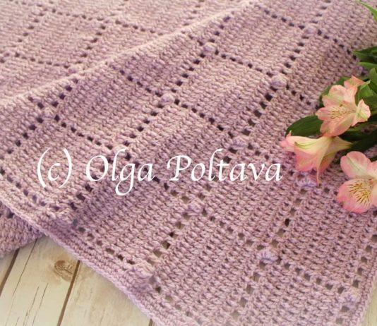 Blocks And Popcorns Baby Blanket Crochet Free Pattern