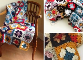 Libby's Granny Squares Blanket Free Crochet Pattern